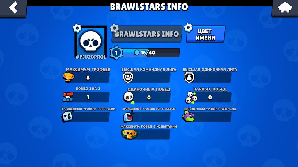 Скрин профиль игрока