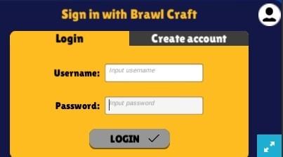 Brawl Craft - форма входа