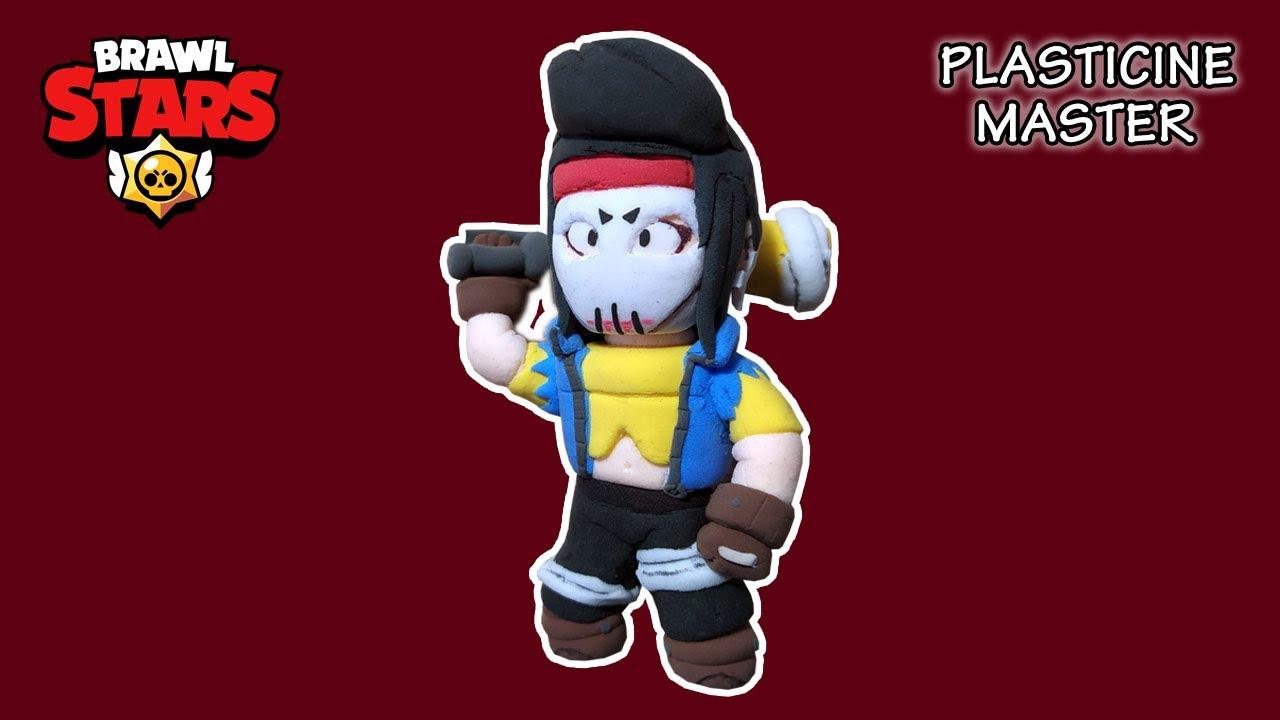 Мстительница Биби из пластилина из игры Бравл Старс
