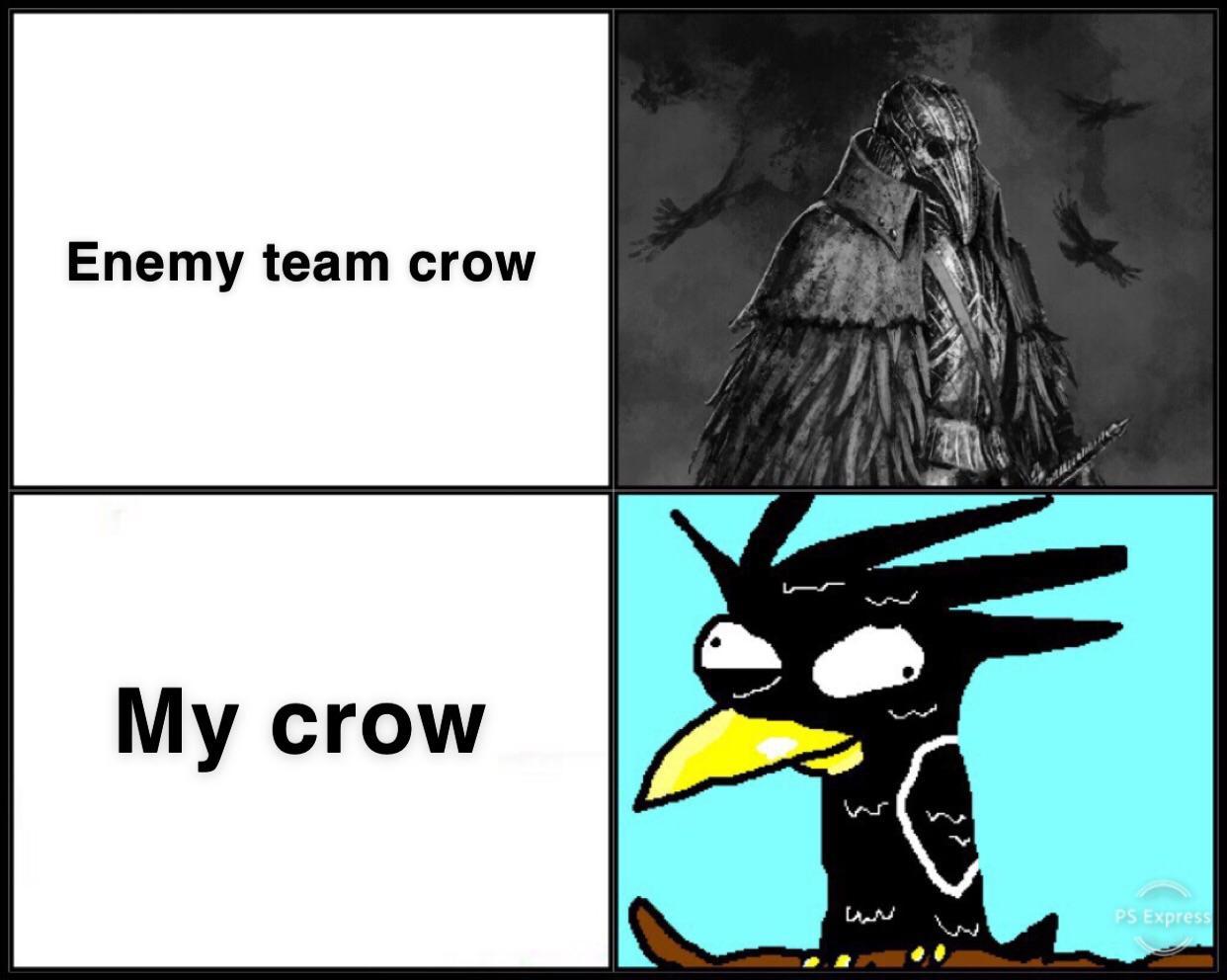 Ворон в вражеской тиме и твоей