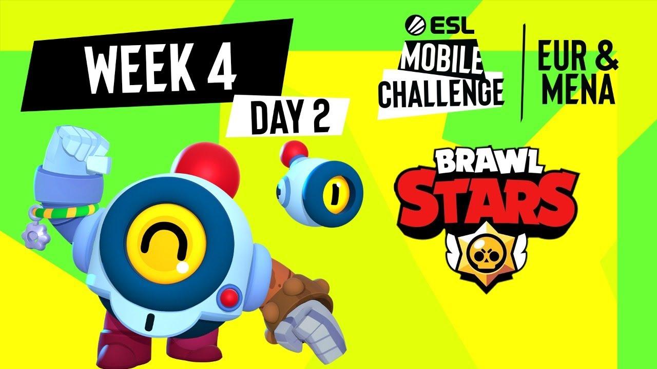ESL Mobile Challenge 2021 EUR/MENA Brawl Stars   Неделя 4 День 2   РУ СТРИМ
